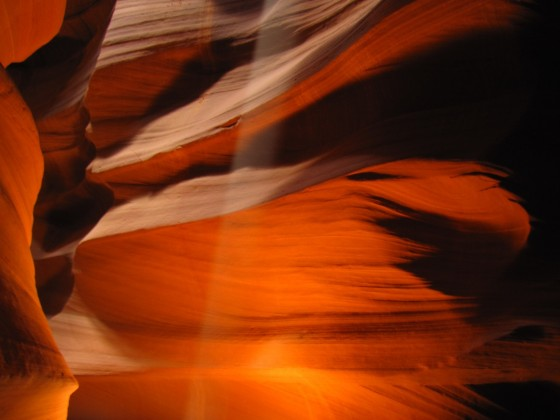 Beam im Upper Antelope Canyon