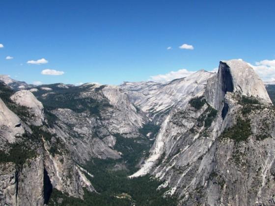 Half Dome vom GlacierPoint aus gesehen - Yosemite NP