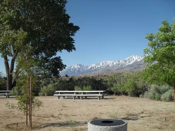 Rastplatz mit Sierra Nevada