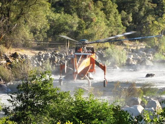Löschhubschrauber im Yosemite