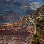 Blick auf den South Kaibab Trail vom Mather Point