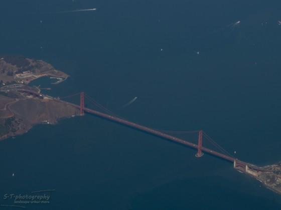 Golden Gate Bridge aus dem Flugzeug