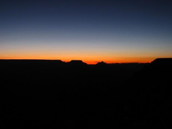Kurz vor Sonnenaufgang am Grand Canyon